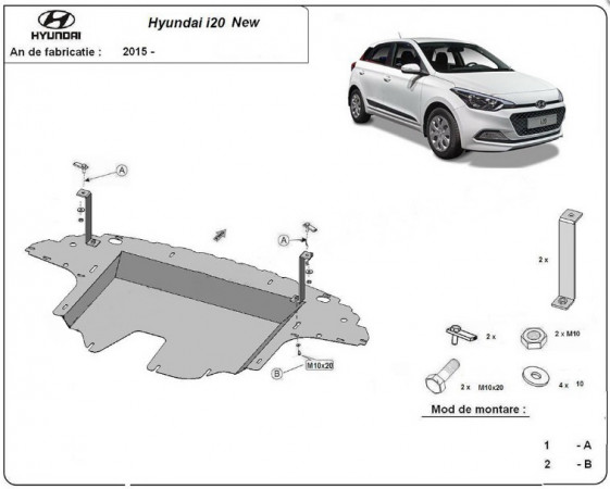 Engine metal shield - Hyundai i20 GB (2014-)