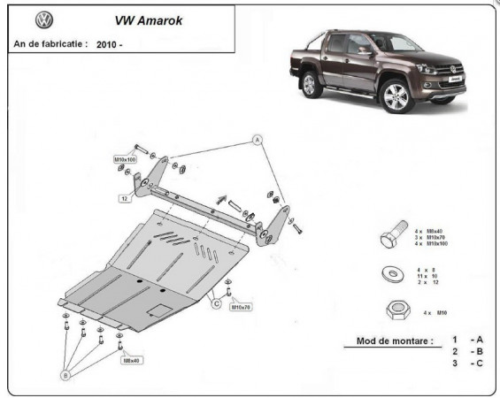 Engine metal shield - Volkswagen Amarok (2010-)