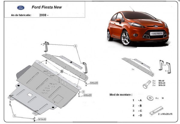 Engine metal shield - Ford Fiesta (2008-)