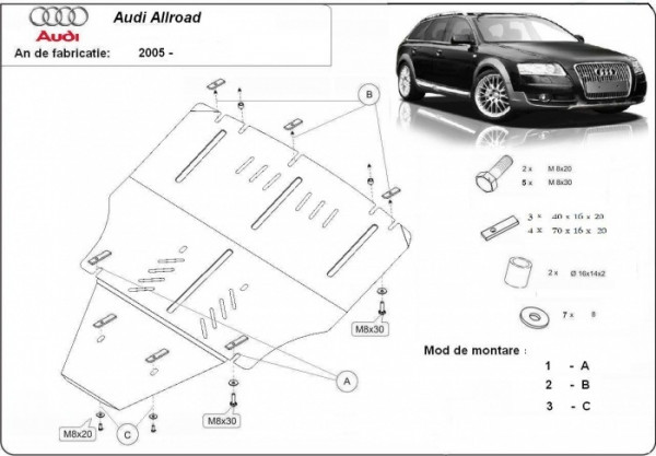 Engine metal shield - Audi Allroad II