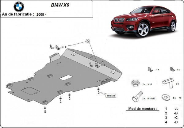 Engine metal shield - BMW X6 (2008-)