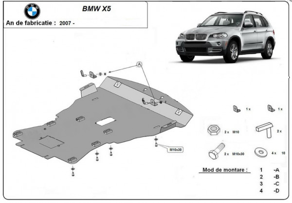 Engine metal shield - BMW X5 E70 (2011-2013)