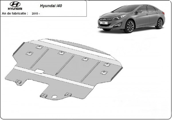 Engine metal shield - Hyundai i40 Sedan (2015-)