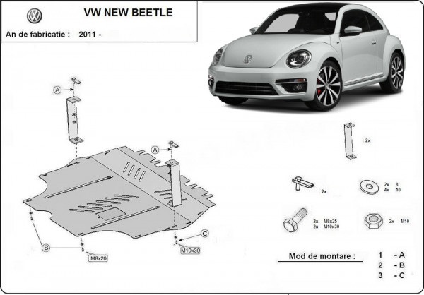 Engine metal shield - Volkswagen Beetle (2014-)