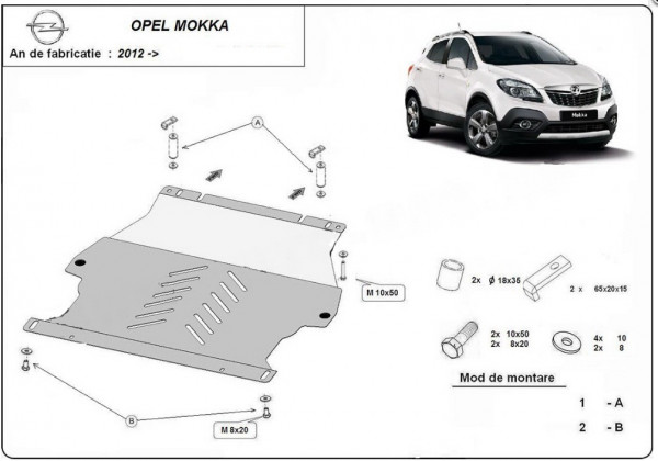 Engine metal shield - Opel Mokka (2012-)