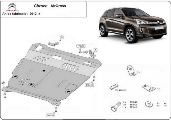 Engine metal shield - Citroen C4 Aircross (2012-)