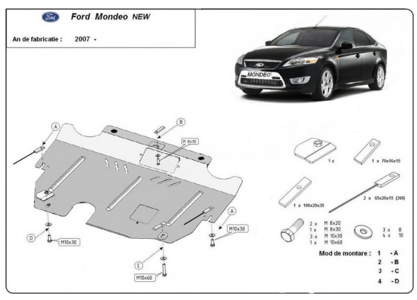 Engine metal shield - Ford Mondeo MK4 (2007-2015)