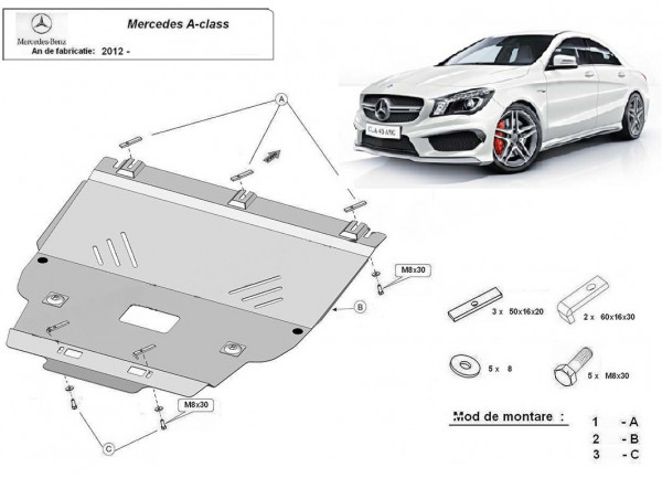 Engine metal shield - Mercedes A-Class W176 (2012-)