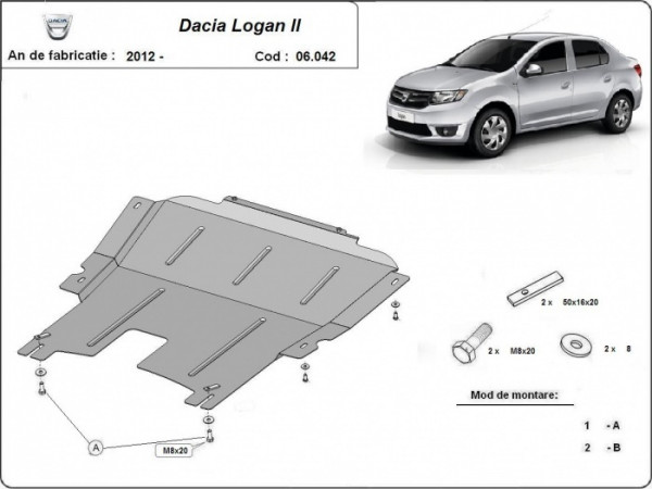 Engine metal shield - DACIA Logan II