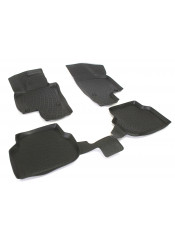 Rubber floor mats with high edges - Nissan Qashqai