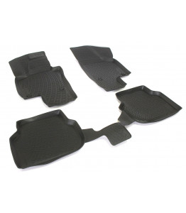 Rubber floor mats with high edges - Audi Q7