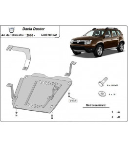 Fuel tank metal shield - DACIA Duster