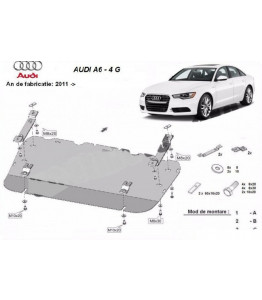 Engine metal shield - Audi A6 Avant 4G (2011-)