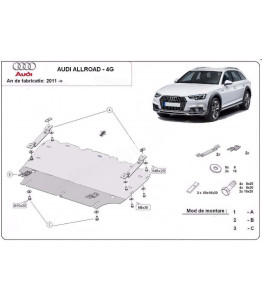 Engine metal shield - Audi A6 Allroad 4G (2012-)