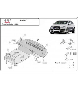 Engine metal shield - Audi Q7 4L (2009-2015)