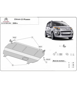 Engine metal shield - Citroen C3 Picasso (2013-)