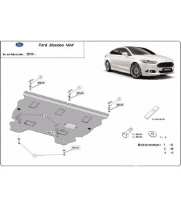 Engine metal shield - Ford Mondeo MK5 (2014-)