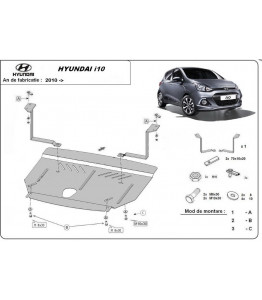 Engine metal shield - Hyundai i10 (2013-)
