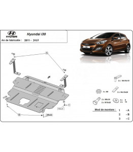 Engine metal shield - Hyundai i30 (2011-2014)