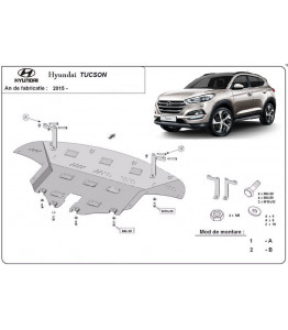 Engine metal shield - Hyundai Tucson TLE (2015-)