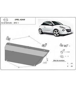Engine metal shield - Opel Adam (2012-)