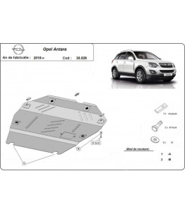 Engine metal shield - Opel Antara (2010-)