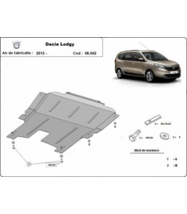 Engine metal shield - DACIA Lodgy