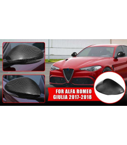Set of real carbon fiber mirrors caps - Alfa Romeo Giulia