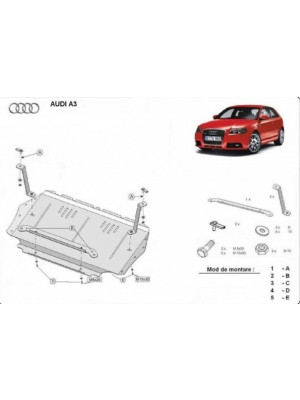 Engine metal shield - Audi A3 (2008-)