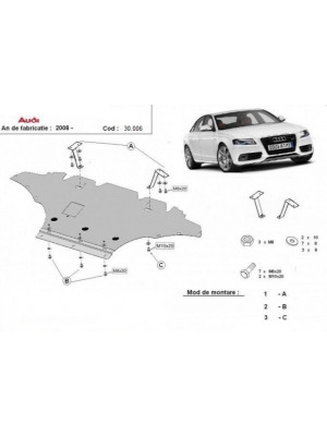 Engine metal shield - Audi A4 B8 8K (2011-2015)