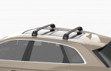 FIAT PANDA (2012-) - Premium roof rack cross bars- deep black - V2