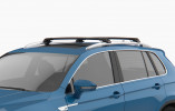 RENAULT CLIO 4 - Premium roof rack cross bars- deep black - V1