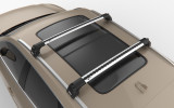 AUDI Q3 F3 (2018-) - Premium roof rack cross bars- bright silver - V2
