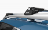 NISSAN QASHQAI Q11 - Premium roof rack cross bars- bright silver - V1