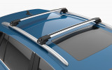 DACIA DUSTER SUV (2010-2013) - Premium roof rack cross bars- bright silver - V1