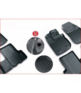 Rubber floor mats with high edges - Audi A4 Sedan (2019-)