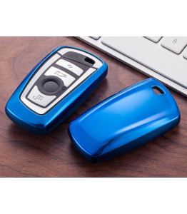 Car key case cover Metallic Blue - BMW