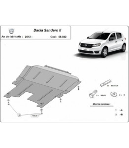 Engine metal shield - DACIA Sandero II