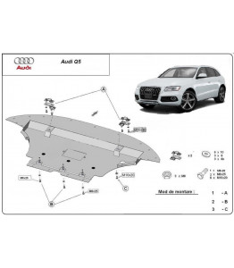 Engine metal shield - Audi Q5 (2008-)