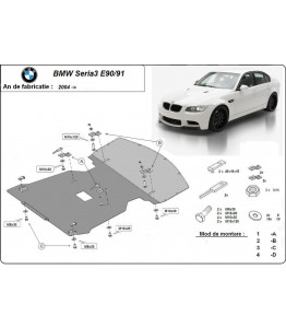 Engine metal shield - BMW 3er E90/E91 (2009-2012)
