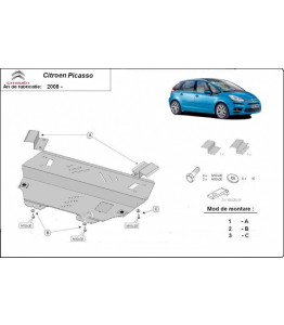 Engine metal shield - Citroen C4 Picasso (2013-)