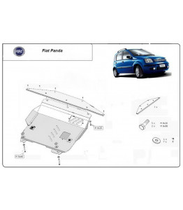 Engine metal shield - Fiat Panda