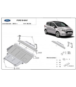 Engine metal shield - Ford B-Max (2012-)