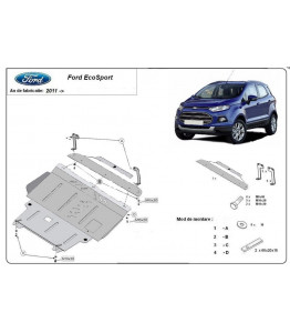 Engine metal shield - Ford EcosportII (2013-)