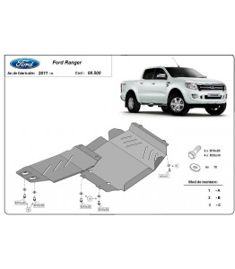 Engine metal shield - Ford Ranger T6 (2011-)