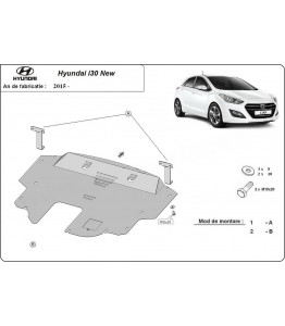 Engine metal shield - Hyundai i30 (2015-)