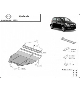 Engine metal shield - Opel Agila II (2008-2014)