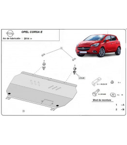 Engine metal shield - Opel Corsa E (2014-)