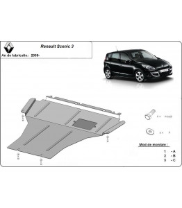 Engine metal shield - Renault Scenic III (2013-)