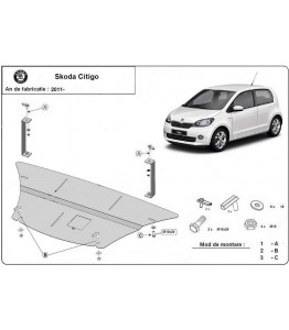 Engine metal shield - Skoda Citigo (2012-)